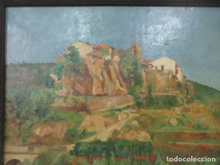 Arte: Óleo sobre Tela - Paisaje - Firma F. Carreras (Orán, Argelia 1925) - Estudió en Mallorca - Foto 3 - 115768731