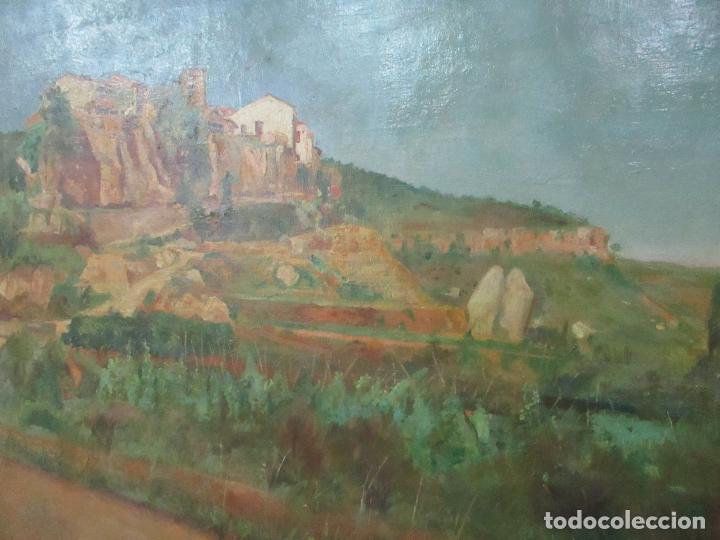 Arte: Óleo sobre Tela - Paisaje - Firma F. Carreras (Orán, Argelia 1925) - Estudió en Mallorca - Foto 4 - 115768731