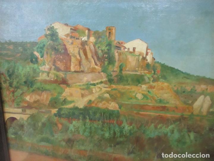 Arte: Óleo sobre Tela - Paisaje - Firma F. Carreras (Orán, Argelia 1925) - Estudió en Mallorca - Foto 8 - 115768731