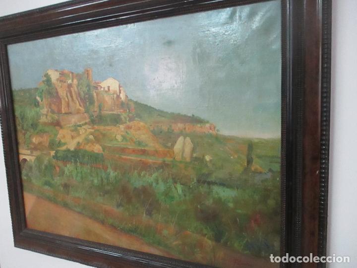 Arte: Óleo sobre Tela - Paisaje - Firma F. Carreras (Orán, Argelia 1925) - Estudió en Mallorca - Foto 12 - 115768731
