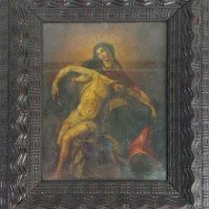 Arte: DESCENDIMIENTO. ÓLEO SOBRE COBRE. ESTILO BARROCO ITALIANO. SIGLO XVIII. . Lote 115870419
