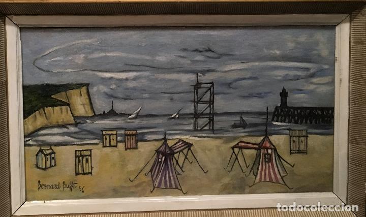 COPIA DEL CUADRO DE BERNARD BUFFET: LA PLAYA (Arte - Pintura - Pintura al Óleo Contemporánea )