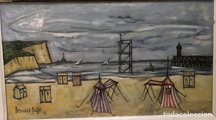 Arte: Copia del cuadro de Bernard Buffet: La Playa - Foto 2 - 116029311