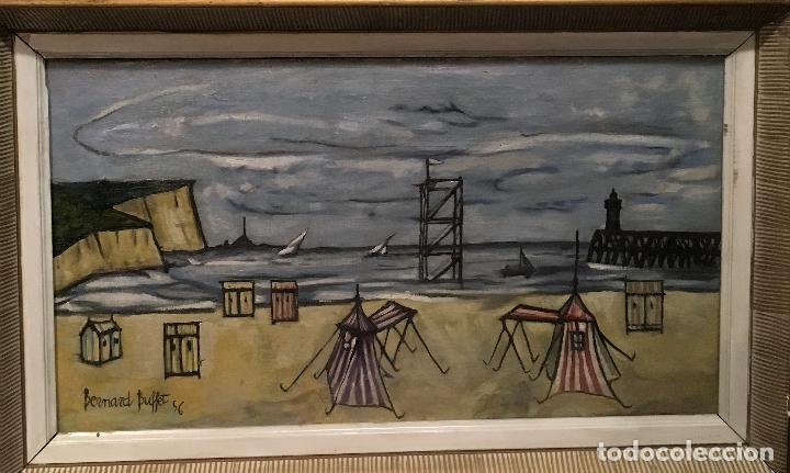Arte: Copia del cuadro de Bernard Buffet: La Playa - Foto 3 - 116029311