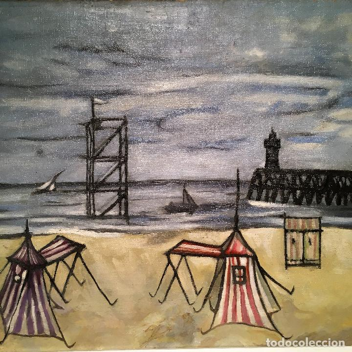 Arte: Copia del cuadro de Bernard Buffet: La Playa - Foto 7 - 116029311