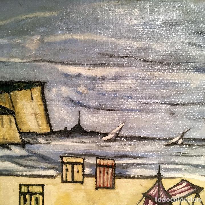 Arte: Copia del cuadro de Bernard Buffet: La Playa - Foto 10 - 116029311