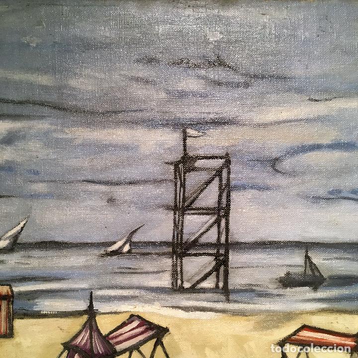 Arte: Copia del cuadro de Bernard Buffet: La Playa - Foto 11 - 116029311