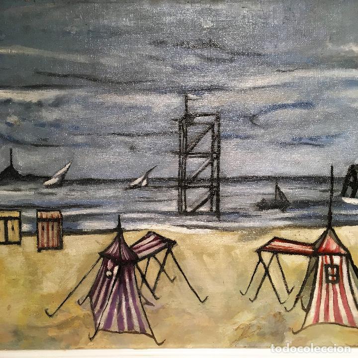 Arte: Copia del cuadro de Bernard Buffet: La Playa - Foto 13 - 116029311