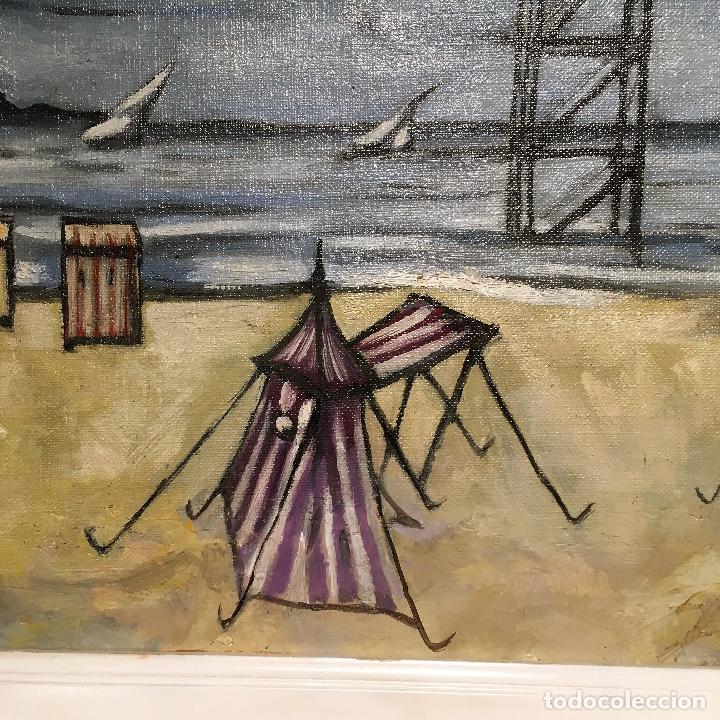 Arte: Copia del cuadro de Bernard Buffet: La Playa - Foto 15 - 116029311
