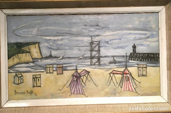 Arte: Copia del cuadro de Bernard Buffet: La Playa - Foto 17 - 116029311