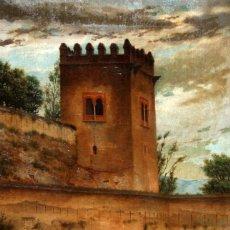 Arte: EUGENIO GIMENO REGNIER (JÁTIVA, 1848 - MADRID, 1920) OLEO SOBRE TELA. PAISAJE DE GRANADA. Lote 116093503