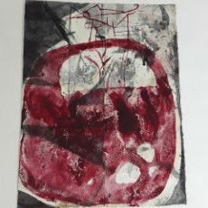 Arte: TEMPLO DEL... TÉCNICA MIXTA SOBRE CARTULINA. ALBERT GONZALO CARBÓ. 2004.. Lote 116103559