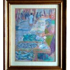 Arte: MERCADO DE LA BRECHA, DONOSTIA (1981). JUAN ANGEL AZKUE ORAYEN.. Lote 116108035