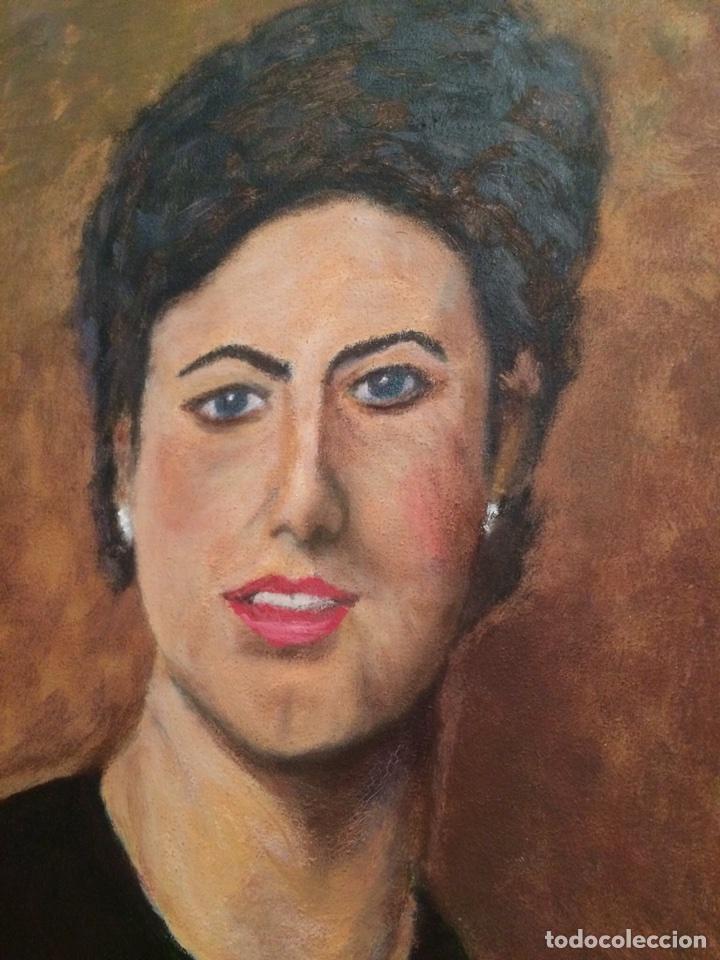 Arte: Cuadro Mujer / Retrato / Oleo / Pintura - Foto 2 - 116181516