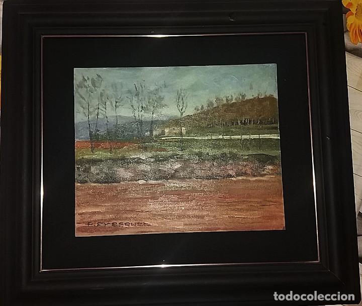 Arte: OLEO S/TABLEX 27X22 MARCO 32X38 - PAISAJE - PASCUAL FRESQUET ALMURIN - Foto 4 - 116190915