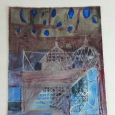 Arte: UN VALLE DEL PAMIR... TÉCNICA MIXTA SOBRE CARTULINA. ALBERT GONZALO CARBÓ. 2004.. Lote 127685256