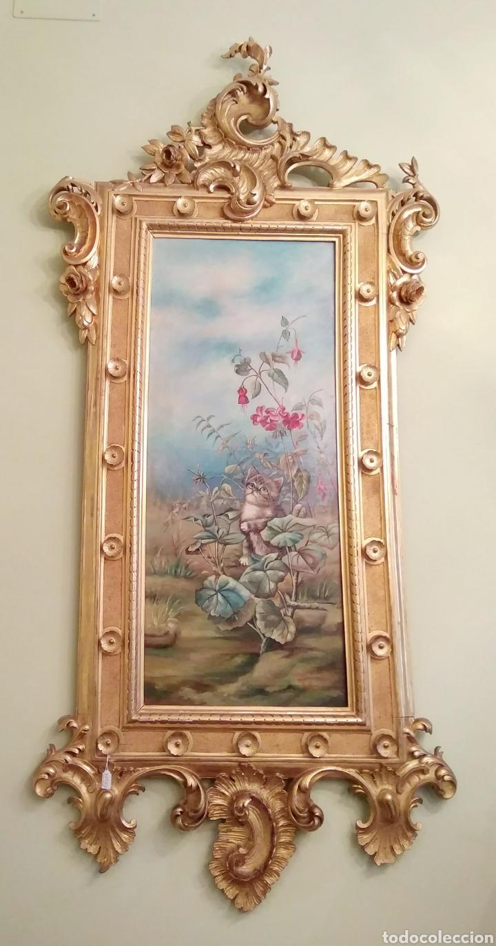 pintura óleo sobre lienzo y marco dorado oro fi - Comprar Pintura al ...
