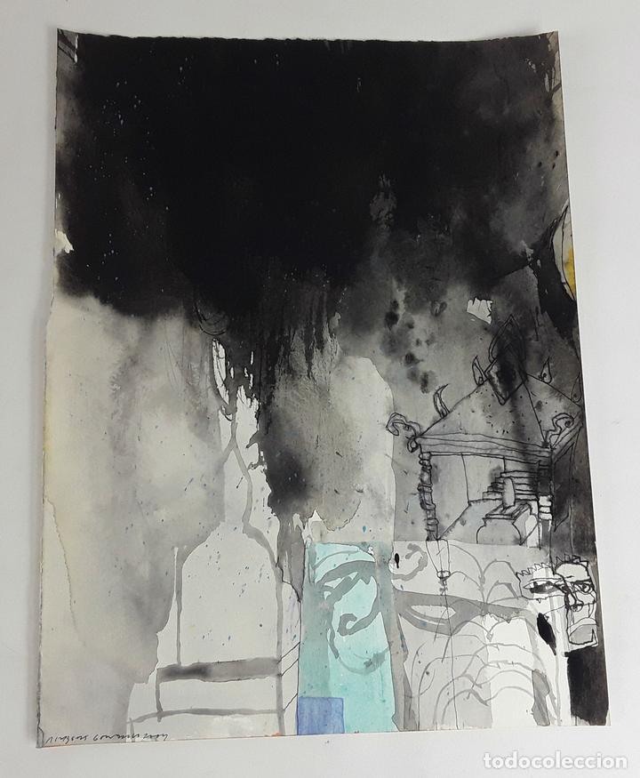 EL VIATGE DE UN...TÉCNICA MIXTA SOBRE CARTULINA. ALBERT GONZALO CARBÓ. 2004. (Arte - Pintura - Pintura al Óleo Contemporánea )