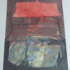 Arte: LA MISIVA DE MADRUGADA. TÉCNICA MIXTA SOBRE CARTULINA. A. GONZALO CARBÓ. 2005.. Lote 116500995