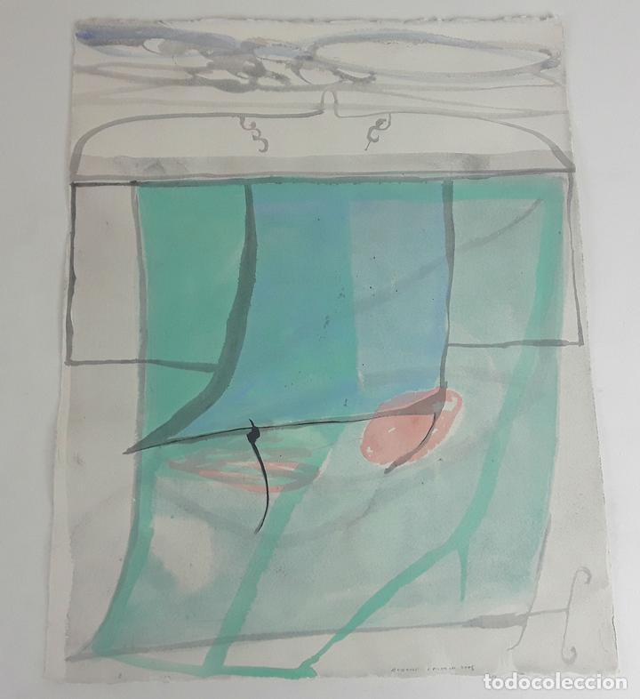 VELO DEL COLOR DEL... TÉCNICA MIXTA SOBRE CARTULINA. A. GONZALO CARBÓ. 2005. (Arte - Pintura - Pintura al Óleo Contemporánea )