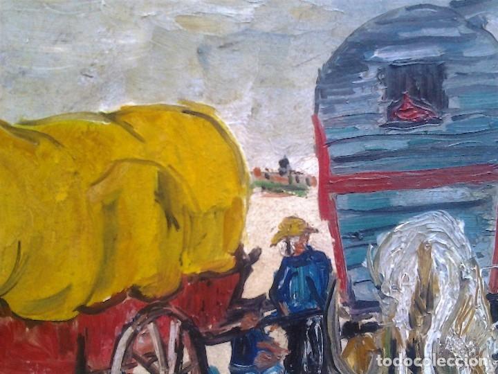Arte: Mikhail Larionov RUSIA 1881-1964 EXPRESIONISMO CAMPAMENTO DE GITANOS O/T MONOGRAMA 1919 50.5X64 CMS - Foto 14 - 89047992