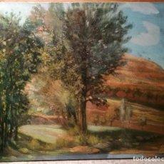 Arte: PAISAJE RURAL DE ESCUELA CATALANA CIRCA 1920.. Lote 116517379