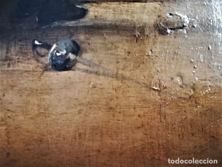 Arte: ESCUELA ESPAÑOLA,PINTURA,OLEO SOBRE TABLA SIGLO XIX, DUELO A ESPADA EN EL CONVENTO,ESGRIMA-SABLE - Foto 5 - 116551955