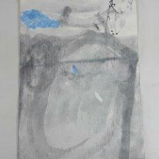 Arte: TEMPLO DEL CIELO. TÉCNICA MIXTA SOBRE CARTULINA. A. GONZALO CARBÓ. 2004.. Lote 116586551
