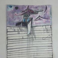 Arte: TEMPLOS SUPERPUESTOS.... TÉCNICA MIXTA SOBRE CARTULINA. A. GONZALO CARBÓ. 2004.. Lote 116589467