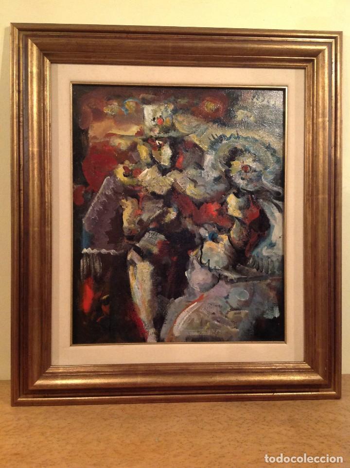 EDUARDO LÓPEZ PISANO ÓLEO MEDIDAS 79X68CM (Arte - Pintura - Pintura al Óleo Moderna siglo XIX)
