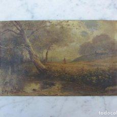Kunst - Oleo sobre tabla firmado por E Mart finales del XIX principios del XX paisajismo catalán - 116776959