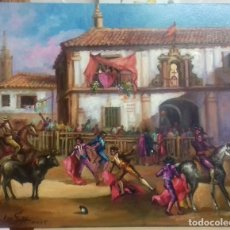 Arte: JOLOGA. CORRIDA DE TOROS. LIENZO 65X54. F15. Lote 116805191