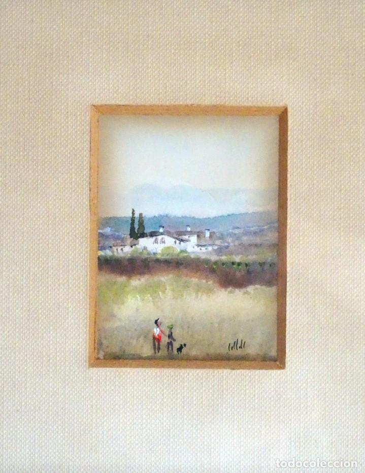 miniatura al oleo, enmarcada - Comprar Pintura al Óleo Moderna sin ...