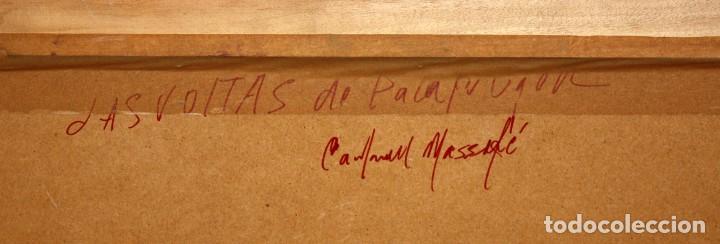 Arte: FRANCISCO CARBONELL MASSABÉ (BARCELONA,1928) OLEO CARTON. LES VOLTES DE CALELLA DE PALAFRUGELL - Foto 10 - 116867315