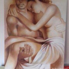Arte: PINTURA AL ÓLEO HOMBRE Y MUJER. Lote 116967979