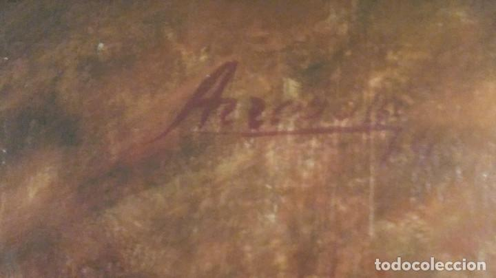 Arte: GRAN PINTURA DE MONJE TIBETANO AÑO 1.973 AUTOR ARREBOLA - Foto 2 - 117001383