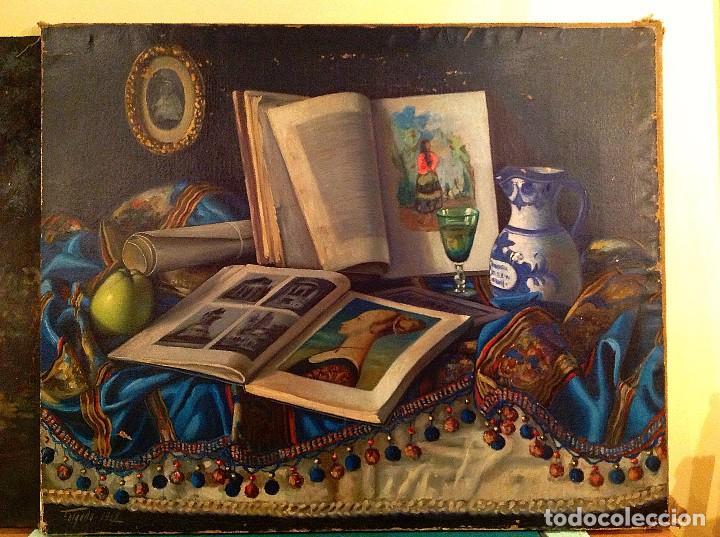 CUADRO ÓLEO TELA DEL PINTOR VICENTE FOLGADO FORTEZA 1968 (Arte - Pintura - Pintura al Óleo Contemporánea )