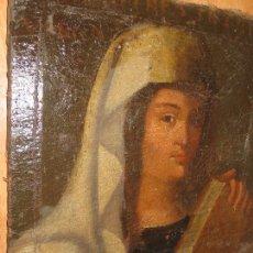 Arte: DONA VERGINE PINTURA RENACENTISTA ANTIGUA OLEO CIRCA SIGLO XV A XVI CON LIBRO PERGAMINO ITALIA. Lote 113701339