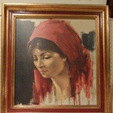Arte: LAMINA DE RETRATO DE BRUNA DE MATTMAN, ARTISTA SUIZO.. Lote 117066415
