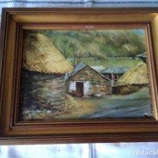 Arte: 83-ANTIGUO OLEO SOBRE TABLA, FIRMADO. Lote 117074663
