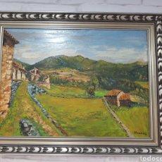 Arte: CUADRO AL OLEO CAMPO FIRMADO F. FRANCES. Lote 117103447