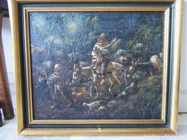 ESPECTACULAR CUADRO OLEO SOBRE LIENZO SIN FIRMA (Arte - Pintura - Pintura al Óleo Antigua sin fecha definida)