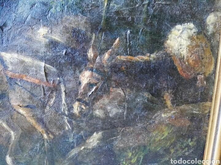 Arte: Espectacular Cuadro oleo sobre lienzo sin firma - Foto 6 - 117160592