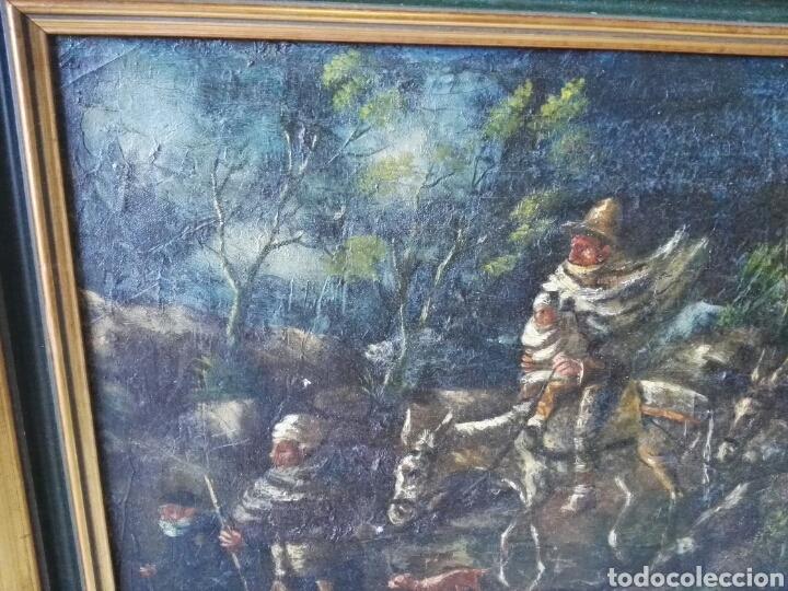 Arte: Espectacular Cuadro oleo sobre lienzo sin firma - Foto 8 - 117160592