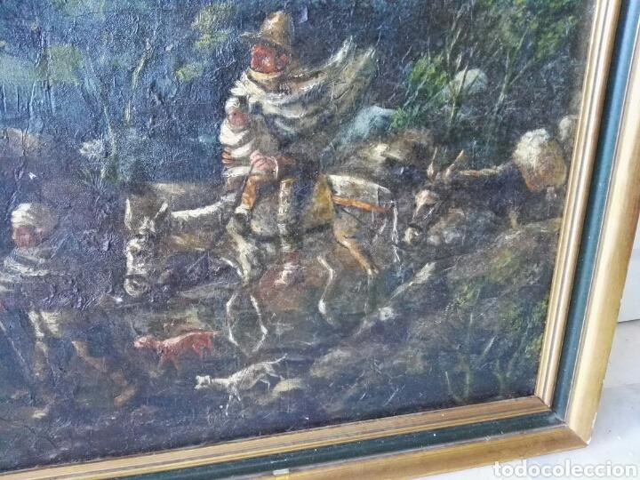 Arte: Espectacular Cuadro oleo sobre lienzo sin firma - Foto 10 - 117160592