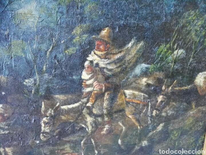 Arte: Espectacular Cuadro oleo sobre lienzo sin firma - Foto 11 - 117160592