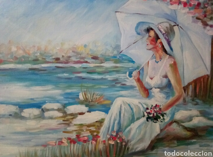 TARDE AL SOL, OLEO SOBRE LIENZO,FIRMADO (Arte - Pintura - Pintura al Óleo Moderna sin fecha definida)