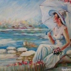 Arte: TARDE AL SOL, OLEO SOBRE LIENZO,FIRMADO. Lote 117323683