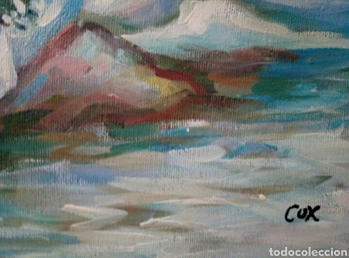Arte: TARDE AL SOL, Oleo sobre lienzo,firmado - Foto 2 - 117323683