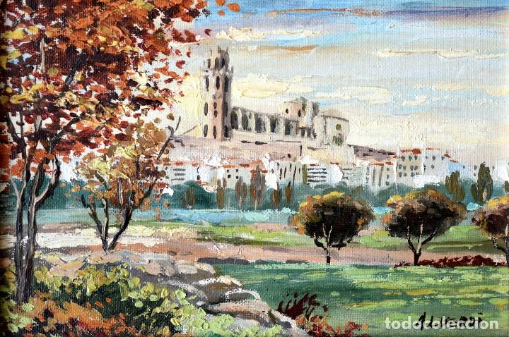CUADRO LERIDA OLEO SOBRE TELA LLEIDA FIRMA ALBERDI (Arte - Pintura - Pintura al Óleo Contemporánea )